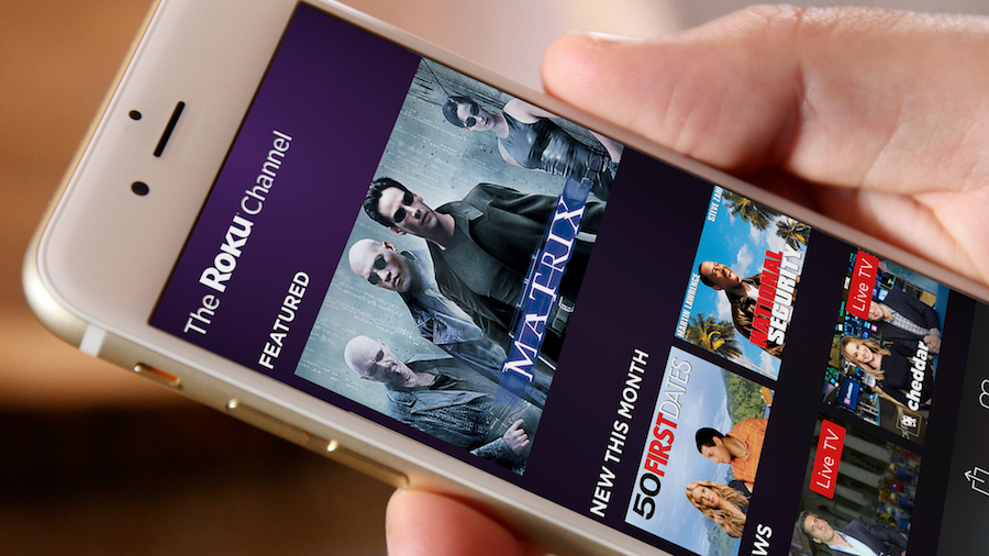 The Roku Channel web close up