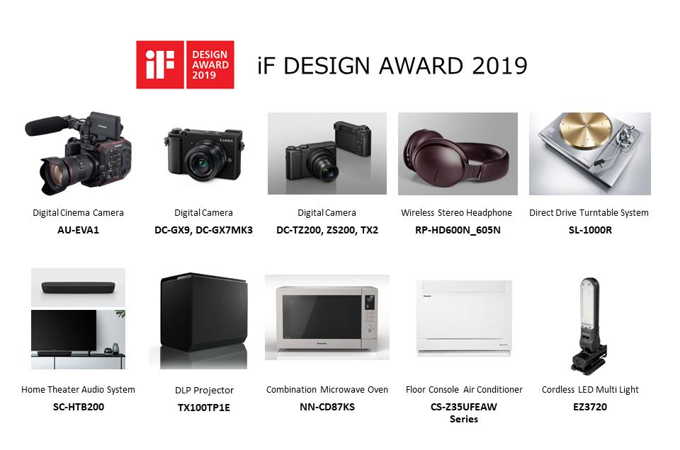 image: Panasonic Won the iF DESIGN AWARD 2019 for 10 Products